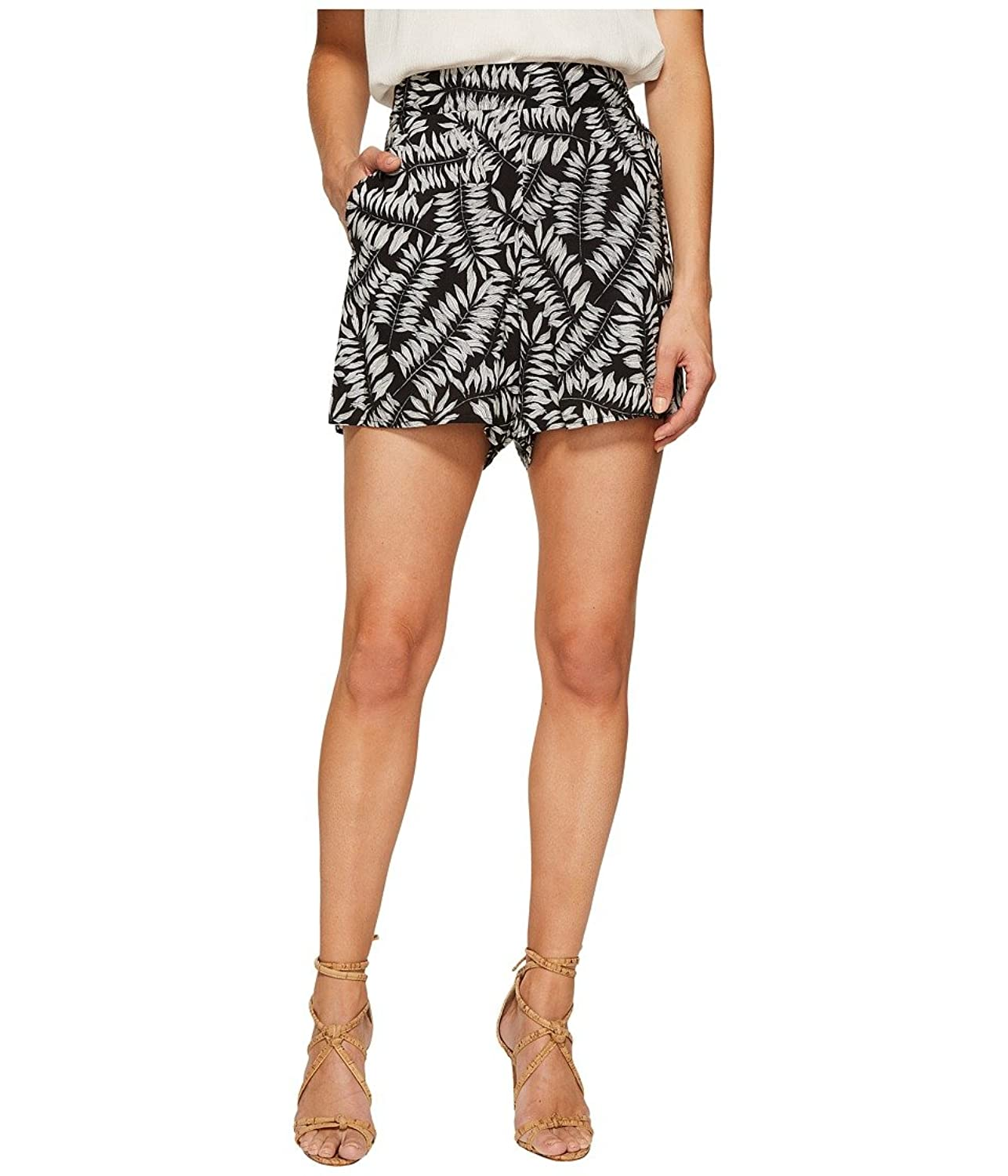1.STATE Womens Flat Front Printed Shorts