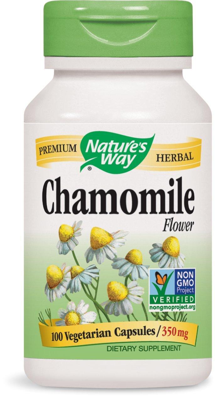 Nature's Way Chamomile Flowers, 350 mg, 100 Capsules