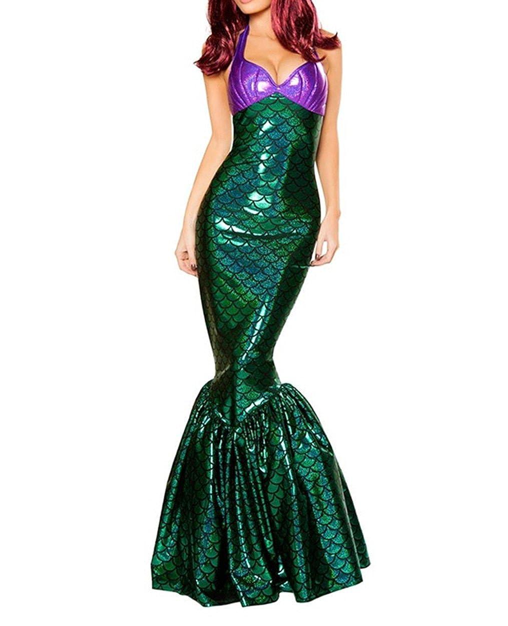 XSHUN Women 2018 New Halloween Deluxe Mermaid Costumes Halloween Paty Cosplay Mermaid