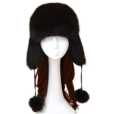 0ad72a285a9 for Women Natural Fox Fur hat Winter Fashion Shoes Warm Fur hat Natural Warm  Hats Thick