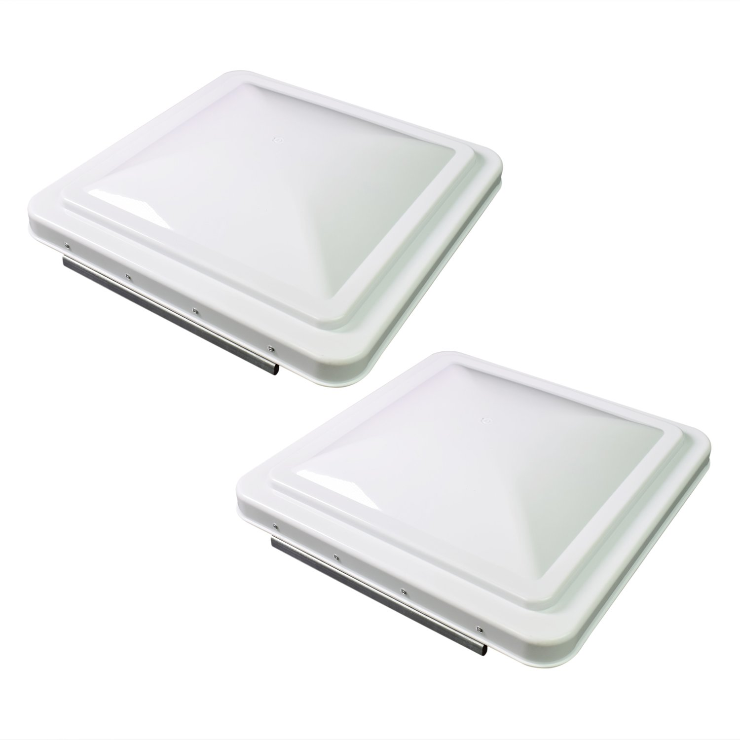 Leisure Coachworks 2 Packs 14 Inch RV Roof Vent Cover Universal Replacement Vent Lid White for Camper Trailer Motorhome (White 2-Pack) by Leisure Coachworks