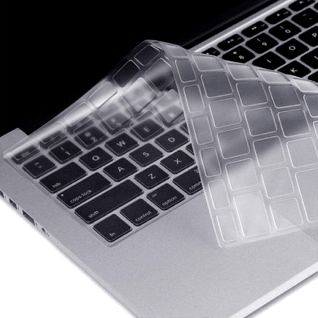 UK//EU Layout CAISON Premium Ultra Thin TPU Keyboard Cover Protector for 2018 Release New 13 inch MacBook Air with Retina Display