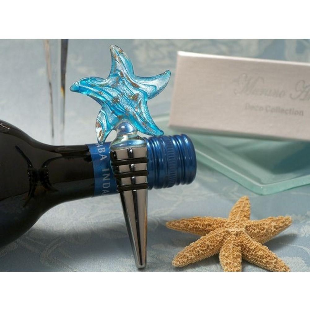 Murano Art Deco Collection Starfish Wine Stopper - 36 Pieces