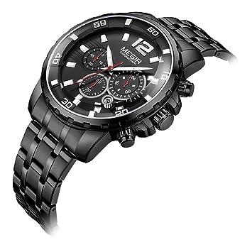 SW Watches Relojes para Hombre A Prueba De Agua De Lujo Marca Cronógrafo Relojes Deportivos Hombres De Acero Completo para Mujer De Cuarzo Reloj De Pulsera ...
