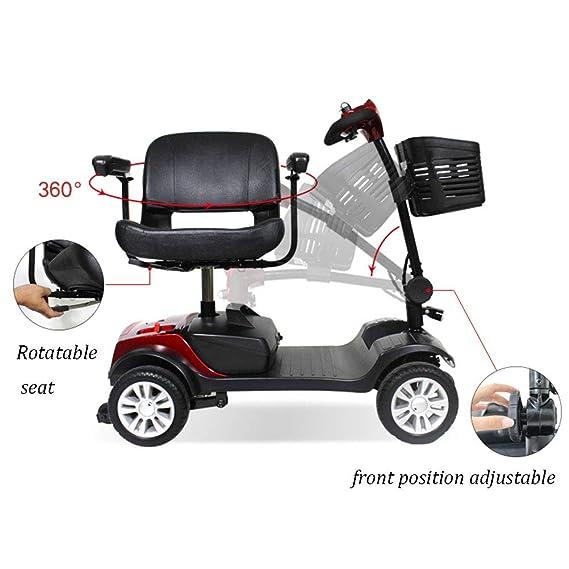 DOS 4 Ruedas Scooter eléctrico E-Triciclo, 8KM/h Plegable ...