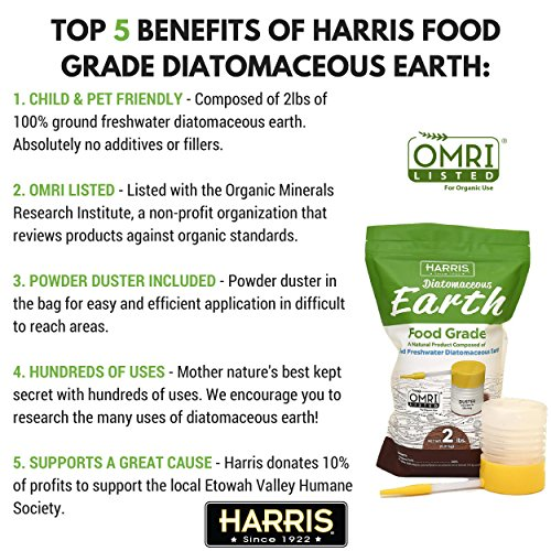 Harris Diatomaceous Earth Food Grade 2lb With Powder Duster Healthcare Too