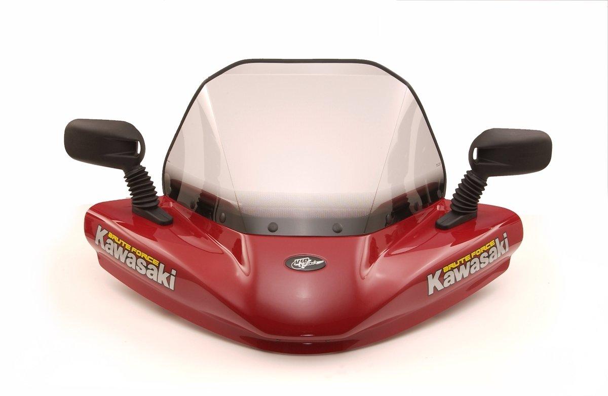 Kawasaki Brute Force 650 Aztec Red windshield VIP-AIR 1365