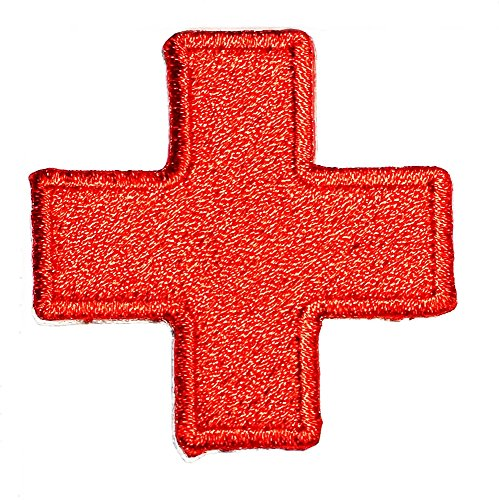 American Red Cross Medic First Aid Nurse Doctor Emergency Logo Symbol DIY Iron on Patch Iron-On Designer Patch Used for Gifts Crafts Jeans Clothing ()