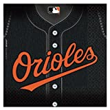 Costumes 203748 Baltimore Orioles Baseball- Lunch Napkins
