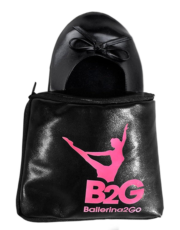 Faltbare Ballerinas Schuhe von Ballerina2Go mit Satintasche - rollbare  Wechselschuhe Afterparty flache Schuhe guenstig zum mitnehmen