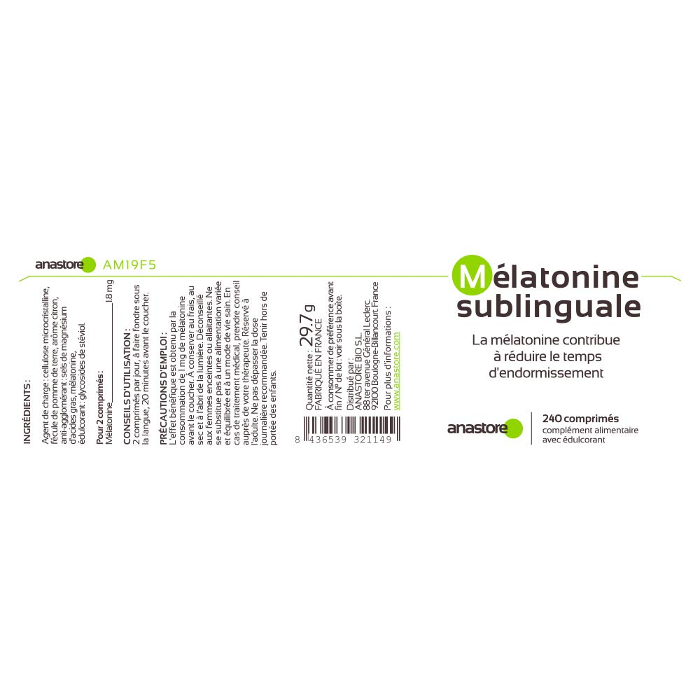 MELATONINA SUBLINGUAL | Pureza garantizada superior al 99% | 1.8 ...