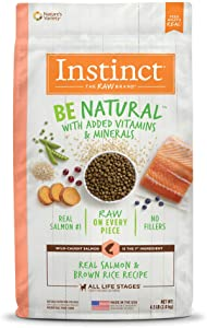 Instinct Be Natural Dry Dog Food, Raw Coated Whole Grain Dog Food