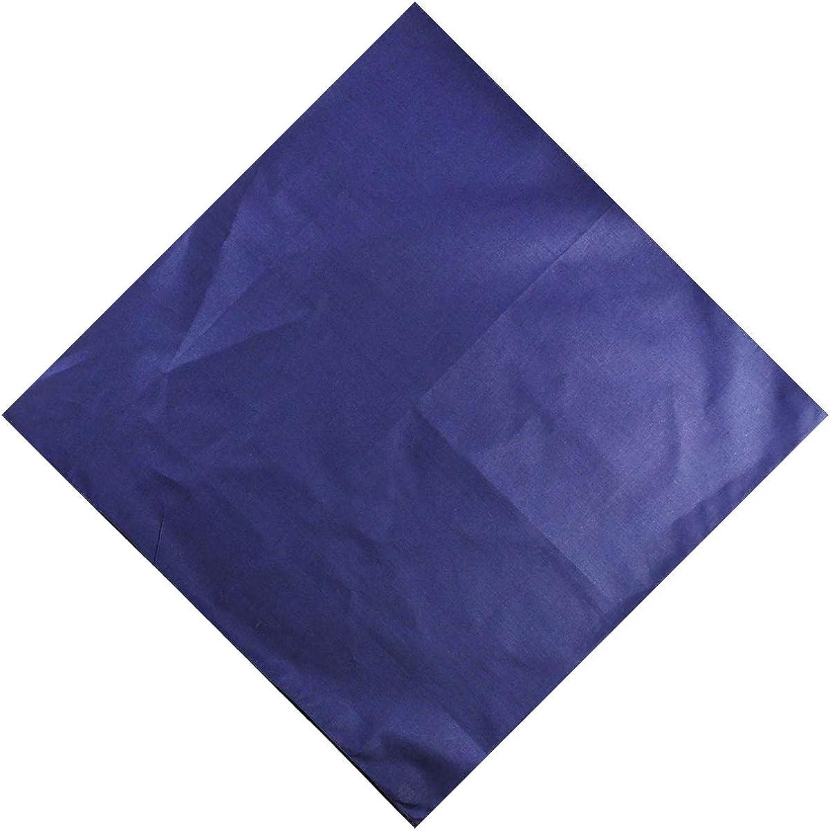 """Wristband 55 x 55cm Unisex Men Woman Plain Solid Colour 100/% Cotton Bandana Head Neck Wrist Handwrap Scarf 22/"""" x 22/"""""""