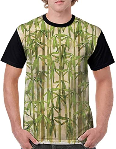 BlountDecor Loose T Shirt,Green Old 20s Design Fashion Personality Customization