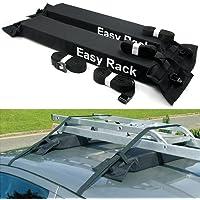 KKmoon porte-bagages universel pour voiture Toit Voiture souple sur le toit de Charger un bagage de 60kg Easy Fit amovible