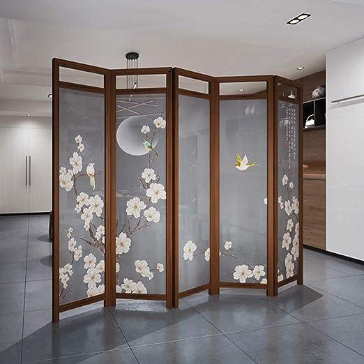 Room Screen Even Divisor de habitación Decorativo de Madera marrón Antiguo, Pantalla Plegable Privacidad 5 Paneles, Divisor de privacidad de Pared de Muebles de partición: Amazon.es: Hogar