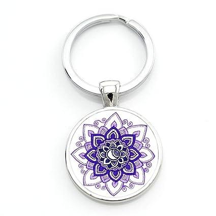 Llavero Moda Budista Zen Geometría Sagrada Yoga Mandala ...
