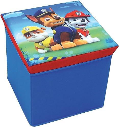 Bleu FUN HOUSE 712768 Disney Cars Tabouret de Rangement pour Enfant 30 x 30 x 30 cm Untisse//MDF