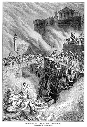 Punic Wars 146 BC Nthe Storming Of The Citadel Of Byrsa By The Roman Army In 146 BC Where The Carthaginians Had Taken Their Last Stand For The Defense Of Their Altars Wood Engraving American 19Th Cent
