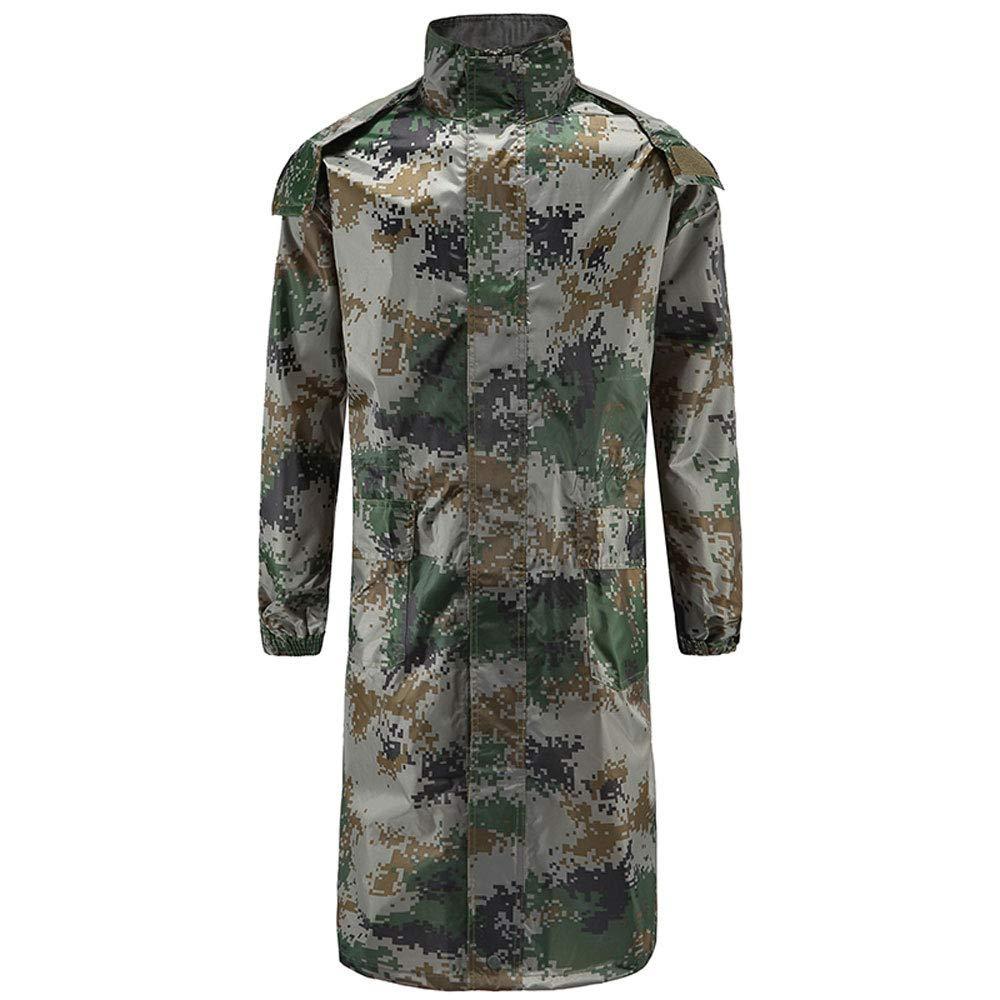 XL Guyuan Imperméable Longue Imperméable VêteHommest Armée Vert Camouflage (Taille   M)