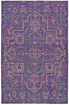 Amazon Com Kaleen Rugs Relic Collection Rlc01 95 Purple Hand Knotted 9 X 12 Rug Furniture Decor