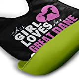 This Girl Heart Her Great Dane Silicone Bib