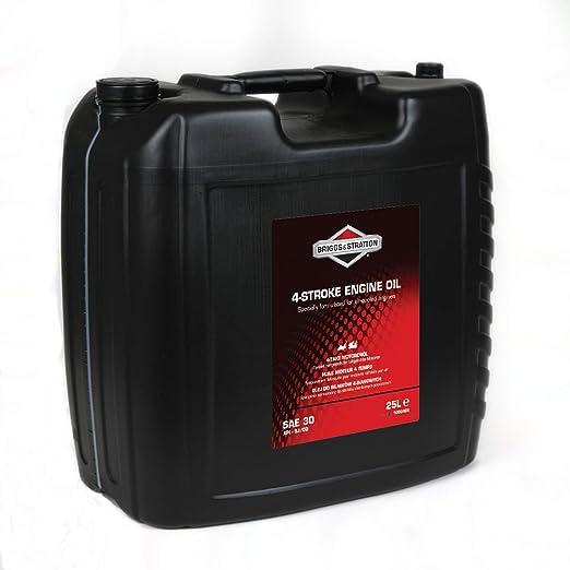 Briggs & Stratton 100046E aceite, negro, 25,0 Litro