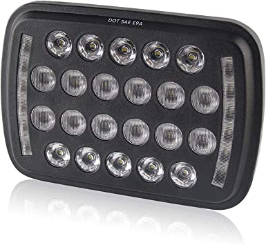 "5/""x7/"" 140W CREE LED Headlights Sealed Beam Clear High//Low Beam DRL High Power"