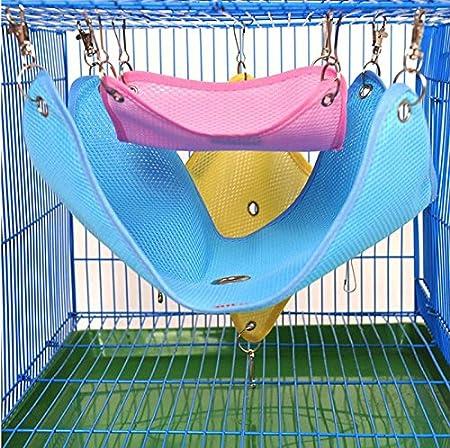 hamaca de malla transpirable de algod/ón para mascotas peque/ñas Hamaca de malla para mascotas de primavera y verano hamaca de ardilla con dise/ño de mo/ño de ferreta Lumanuby