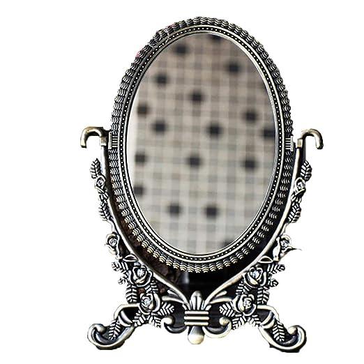 ASDW Espejo de Escritorio Retro Flip Rotando HD Espejo De Mesa ...