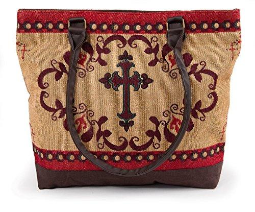 (RaaKha Womens Western Cross Woven Fashion Shoulder Tote Bag 17