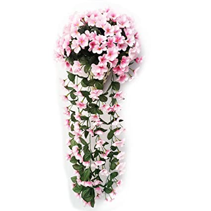 Amazon tinksky artificial flowers artificial silk daisy tinksky artificial flowers artificial silk daisy wisteria hanging flower vine wedding mothers day party anniversary engagement mightylinksfo Images