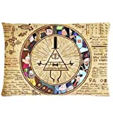 Chetery Funny Gravity Falls Bill Cipher Map Pattern Best Choice Decorate Pillowcase Custom Pillowcase Soft Pillow Case Zippered Pillow Case Cover in Roomy Size 12 x 20 Inches Fashion Design