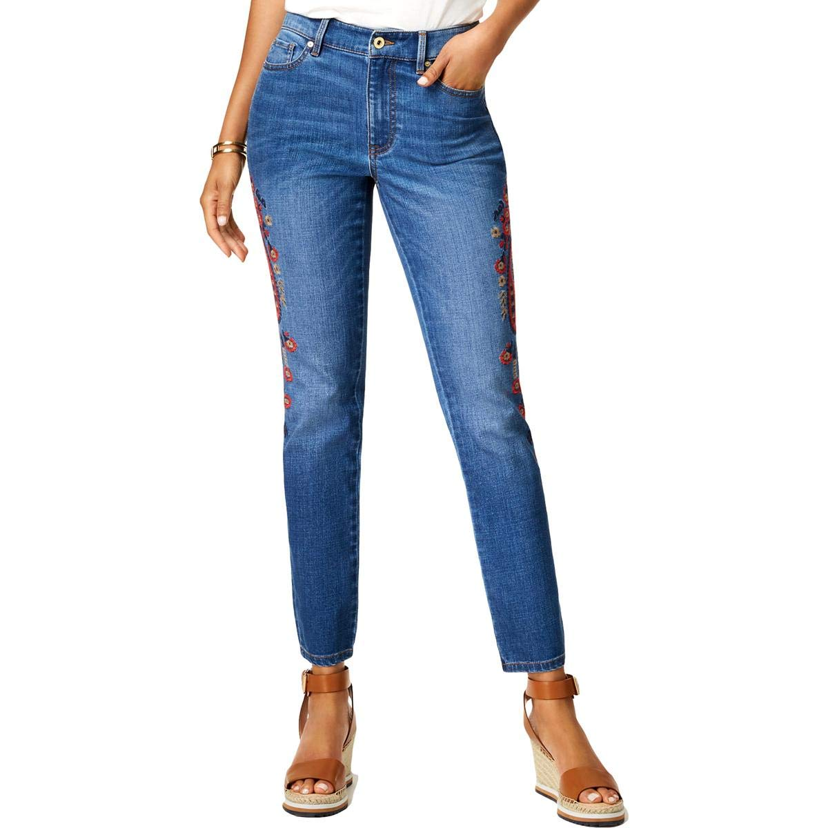 Tommy Hilfiger high waisted straight leg jeans