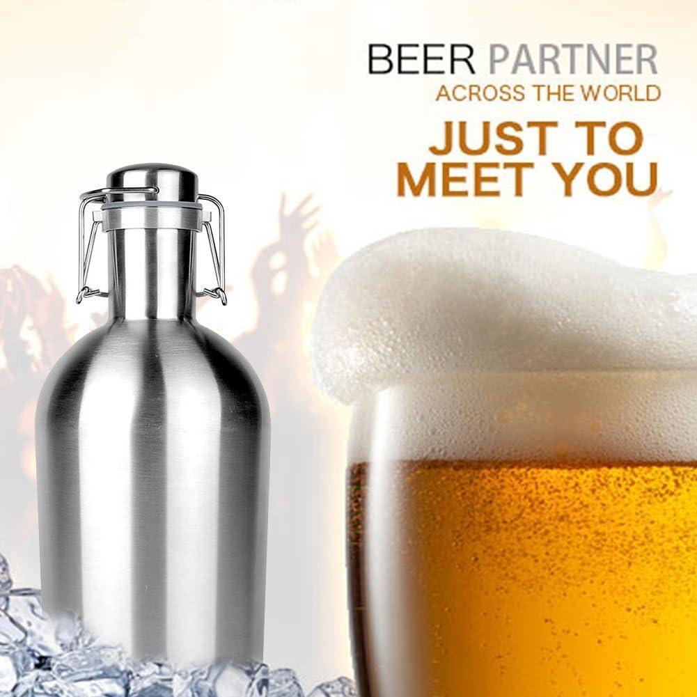 Vida y dando único Acero Inoxidable Cerveza Growler Gran Capacidad ...