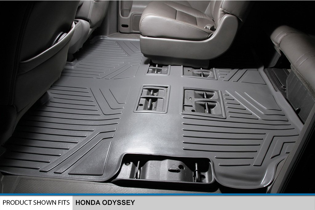 3 Row Set /& Tray Cargo Liner for Honda Odyssey Grey 2011-2016 MAXLINER A2103//B2103//D2103 Floor Mats