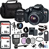 Canon EOS Rebel T6 DSLR Camera 18-55mm Lens 2X 32GB SD Cards, Flash, Filters Cleaning Kit