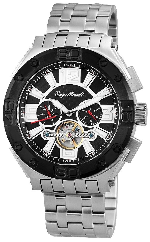 Engelhardt Herren-Armbanduhr XL Analog Automatik Edelstahl 389421028004