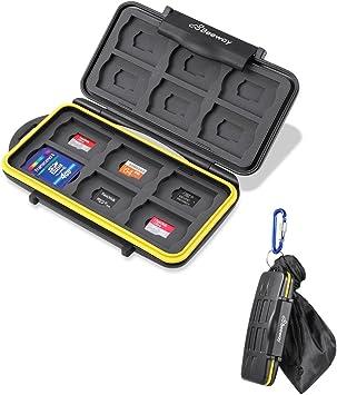 Beeway Estuche para Tarjeta de memorias, 24 Slots=12 SD + 12 Micro SD/ TF- Impermeable: Amazon.es: Electrónica