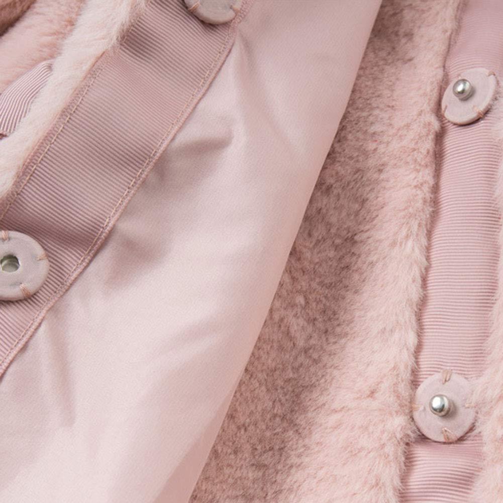 M/&A Baby Girls Toddler Kids Winter Coat Jacket Warm Fleece Hooded Outerwear Hoodies