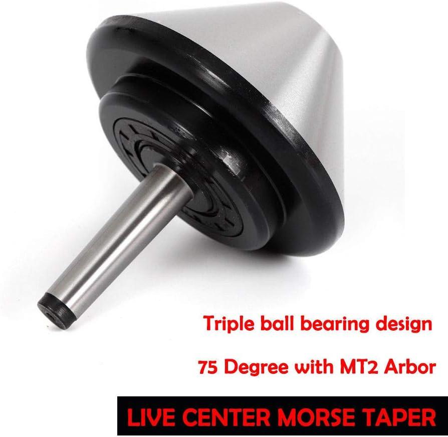 Live Center 5/'/' MT2 120mm Bull Nose Morse Taper Arbor Bearing Center 75 Degree