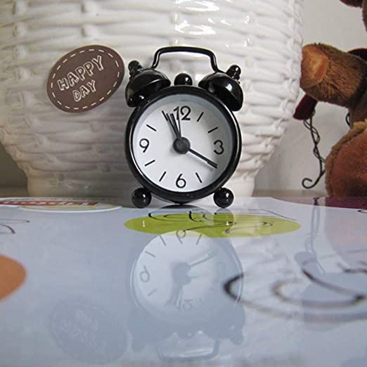 Amazon.com: Creative Cute Mini Metal Small Alarm Clock ...