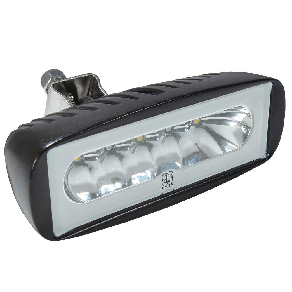 Lumitec Caprera2 101217, LED Flood Light, Bracket Mount, Black Housing, White Dimming and Blue Dimming