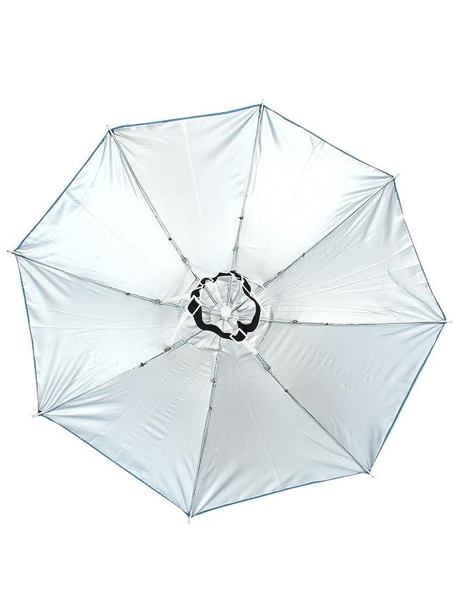 Amazon.com: eDealMax Pesca al aire Libre Headwear poliéster Dosel paraguas Gorra Azul: Home & Kitchen
