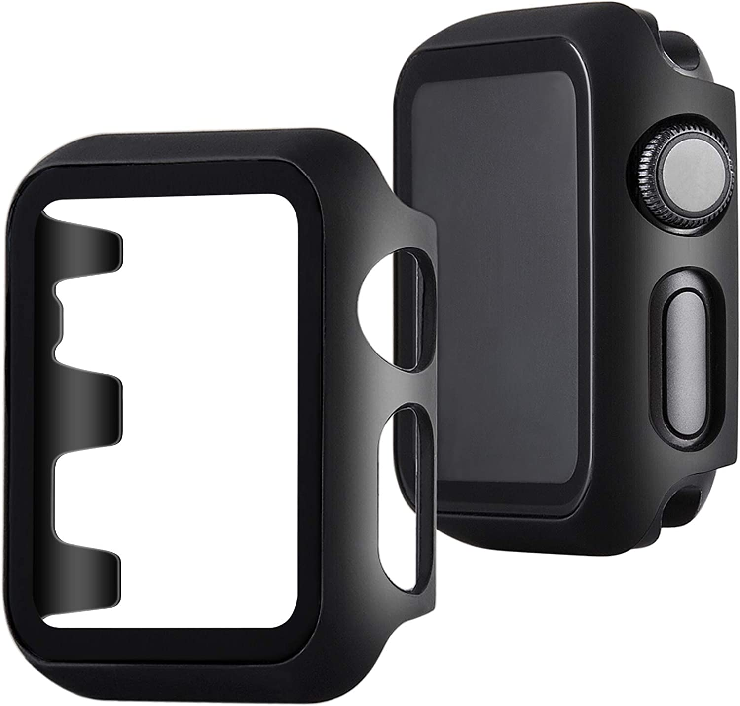 VIQIV Screen Protective Face Bumper Case Cover for Compatible with Apple Watch Band 38mm 42mm 40mm 44mm, Ultra-Slim Lightweight Frame Compatible with iWatch Series 5 4 3 2 1