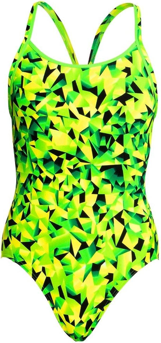 Funkita Damen Badeanzug Schwimmanzug Diamond Back Snow Leaf