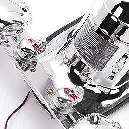 Chrome Skull Integrated Brake Stop Tail Turn Signal Blinker Indicator Light For Motorcycle Harley Sportster Dyna Glide Custom Bobber Chopper Cruiser