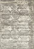 Area Rug Vintage Dark Gray 8' x 11' FT St. John Collection Rugs - Inspired Overdyed Carpet
