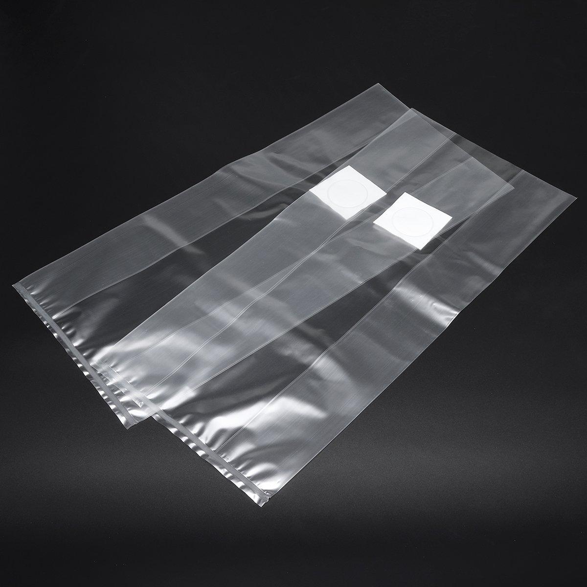 50Pcs 200x450x0.06mm PVC Mushroom Grow Seedling Bags Substrate High Temp Pre Sealable Lovinn