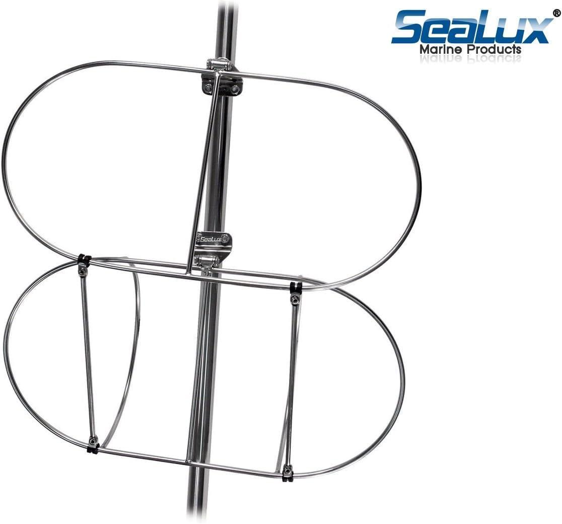 """9/"""" Stainless Steel Folding Double Fender Holder Rack Fast"""